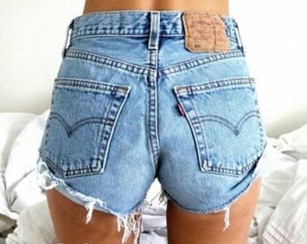 vintage leviu0027s high waisted denim shorts - all sizes xxs to xl - igulojb