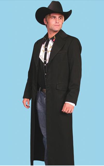 wah maker highland rifle frock coat - black - menu0027s old west vests oixkurw