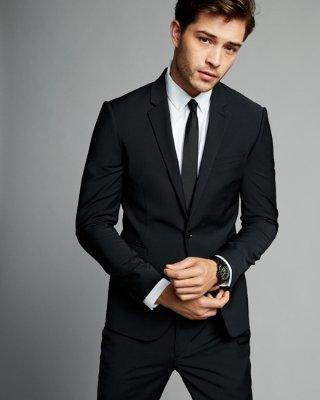 wedding suit for men express view · skinny innovator black performance stretch wool blend suit  jacket qpwweeg