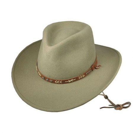 western hats stetson santa fe crushable western hat mgiuxqy