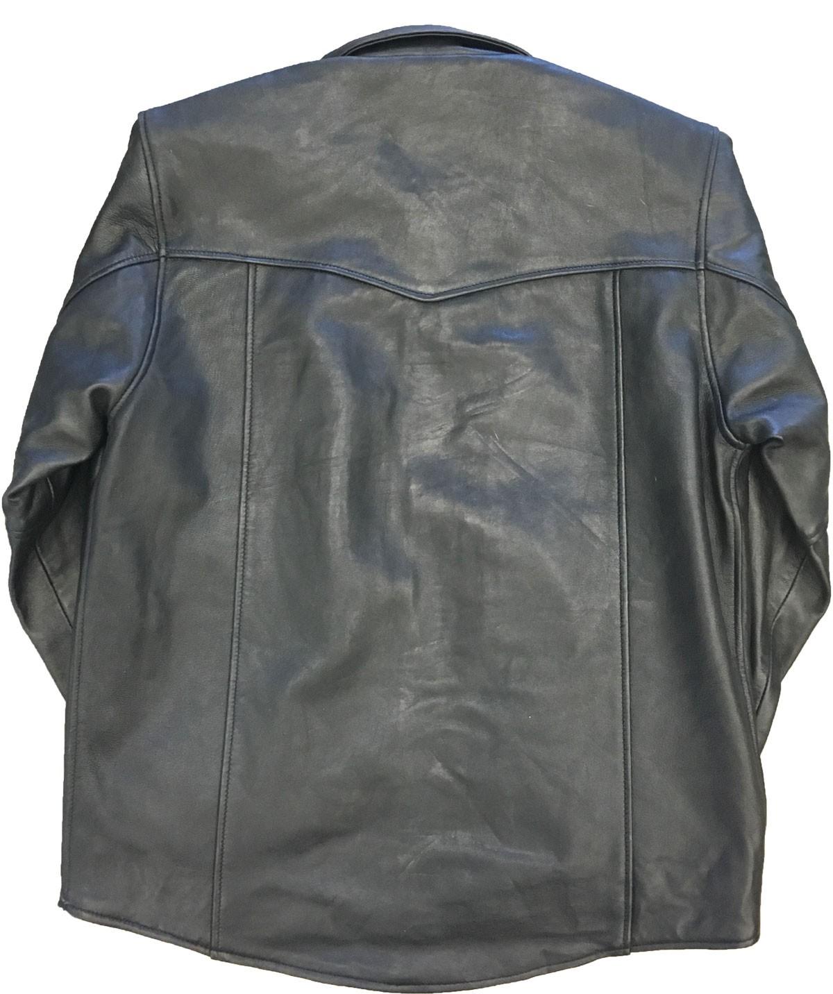 western leather shirt black jjpxcfo