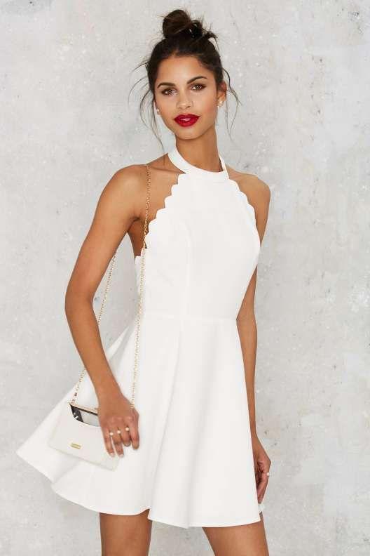 white graduation dresses full scallop attack flare dress wnzmqpu