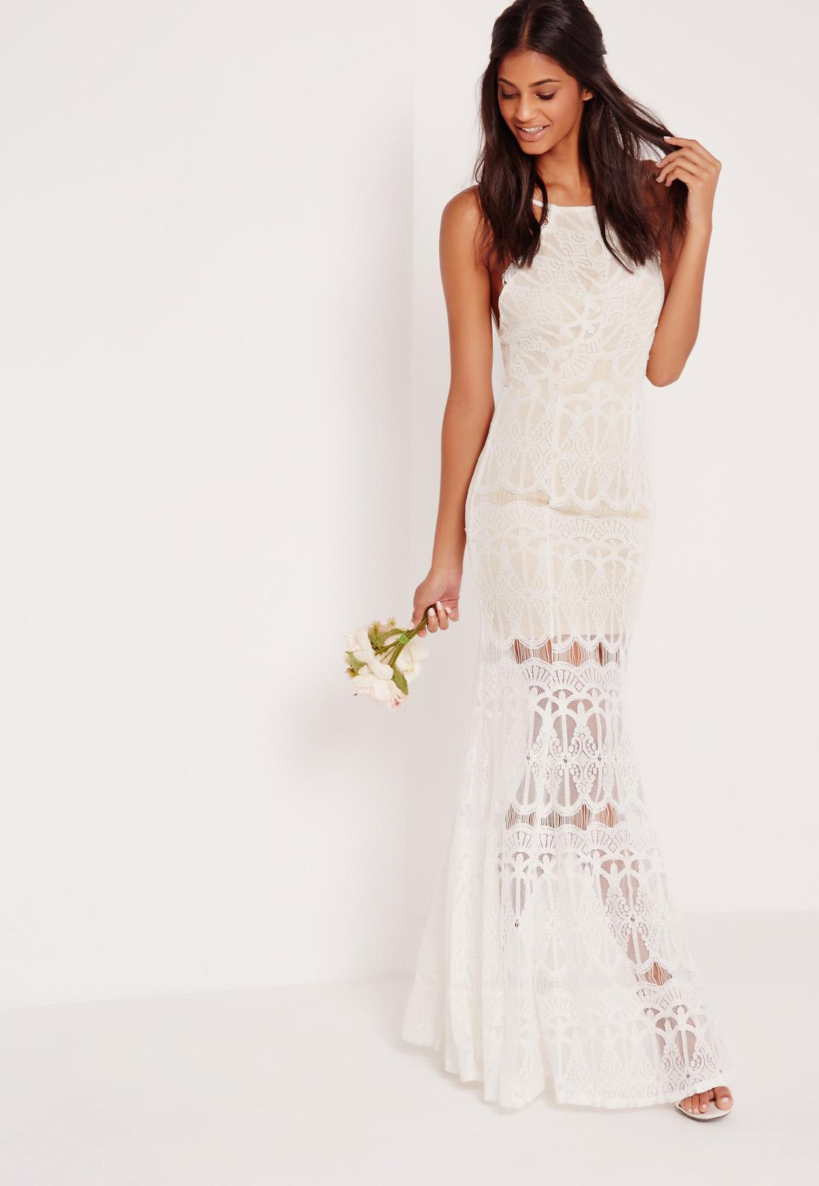 white lace maxi dress high neck scallop lace maxi dress white czjhmdo