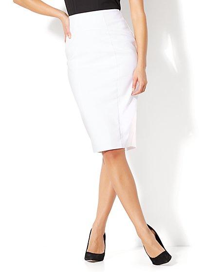white pencil skirt 7th avenue - seamed pencil skirt - white - new york u0026 company lthizvw