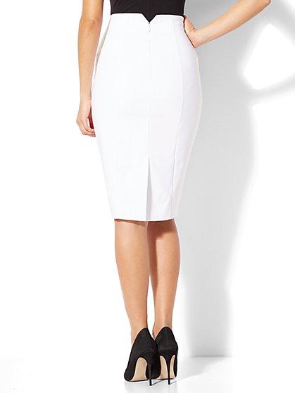 white pencil skirt ... 7th avenue - seamed pencil skirt - white - new york u0026 nhrawye