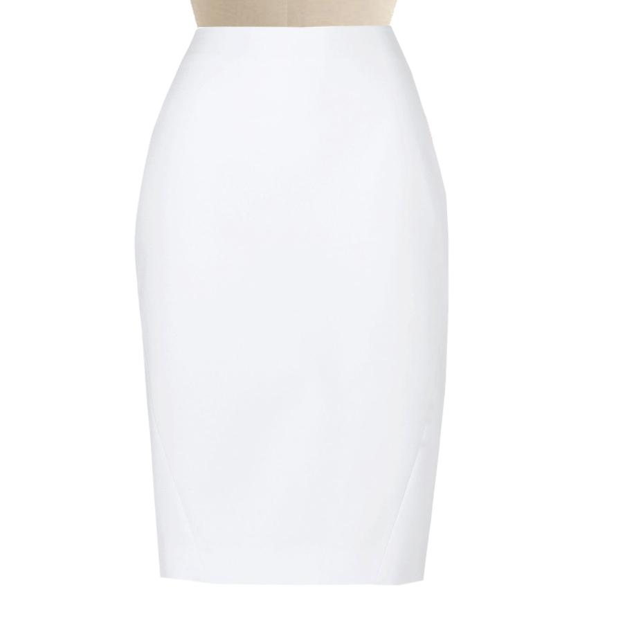 white pencil skirt, custom fit, handmade, fully lined, wool blend fabric vttycci