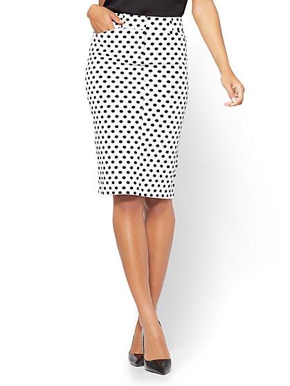 white pencil skirt the audrey pencil skirt - white - polka dot - new york u0026 jwqithj
