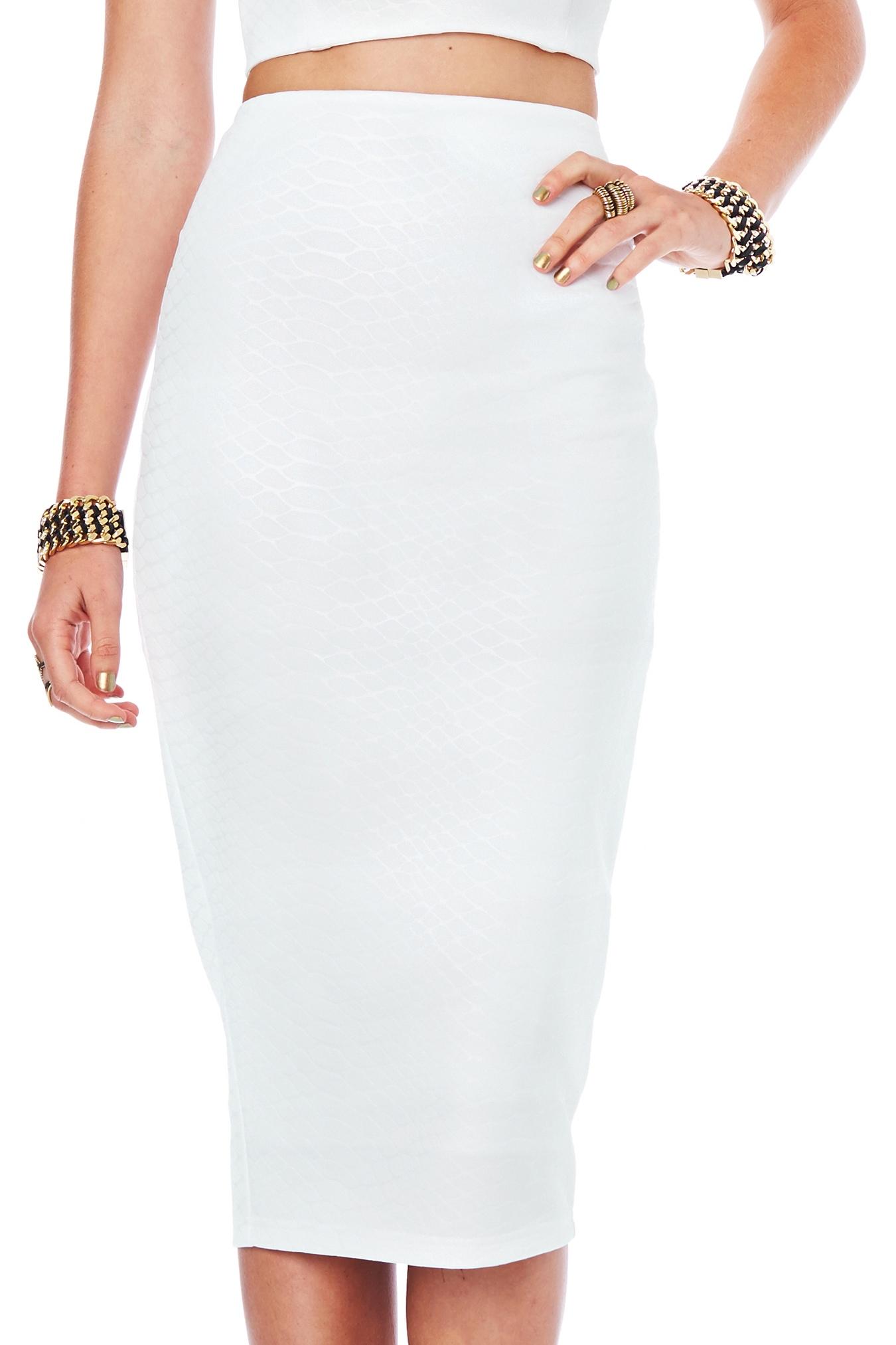 white pencil skirt white snake eyes pencil skirt : buy designer dresses online at nookie livhyqp