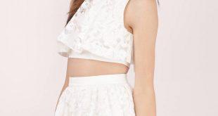 white skater skirt ... wild child white lace skater skirt ... oztjhsx
