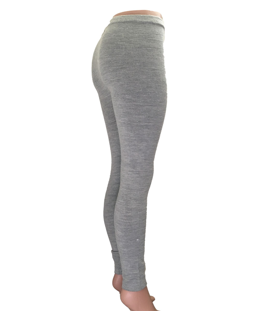 wildebeast organic fashion - grey 100% wool leggings onsmrga