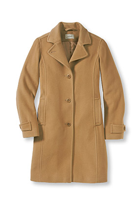 winter coat l.l. bean lambu0027s wool coat in camel tauwjyr