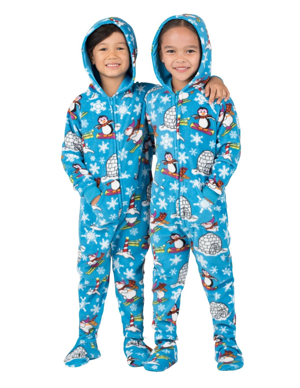 winter wonderland hooded footed pajamas wgpetki