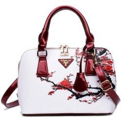 womens bags floral printed handbag - red wrqefyu