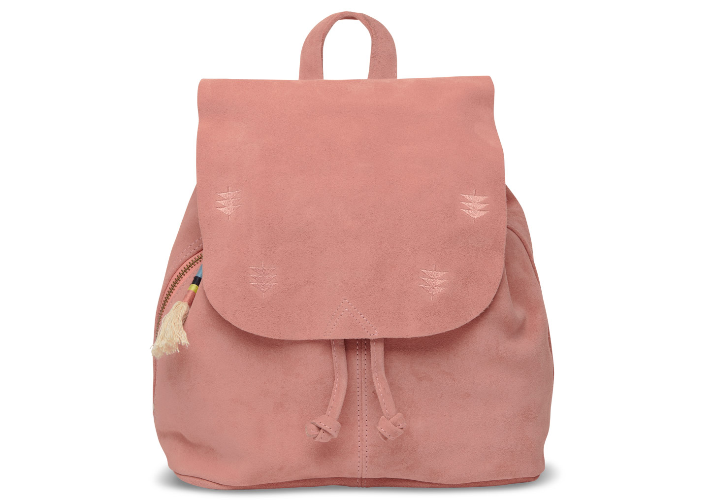 womens bags toms exclusive dusty rose suede embroidered poet backpack xoqcdbs