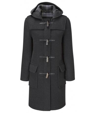 womens duffle coat womens classic duffle coats -- charcoal-black neqwpsj