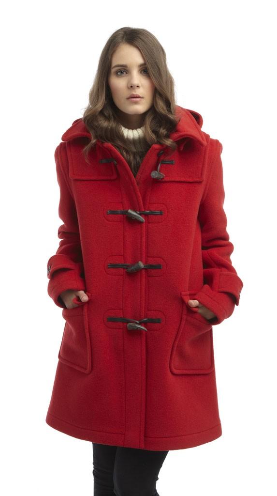 womens duffle coat womens london duffle coat - red ghmwhib