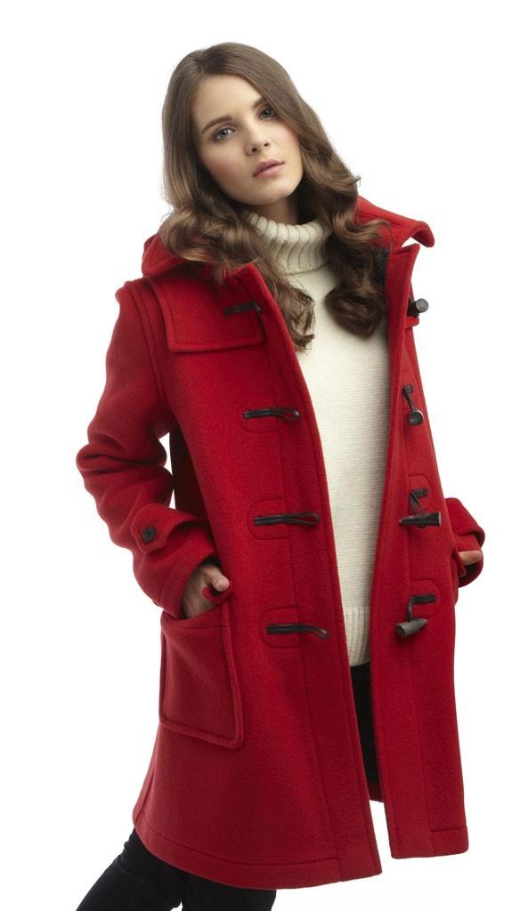 womens duffle coat womens london duffle coat -- red vtvqxmn