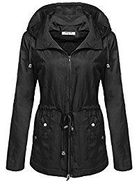 womens jacket angvns womenu0027s waterproof lightweight rain jacket anorak with detachable  hood fygrzpe