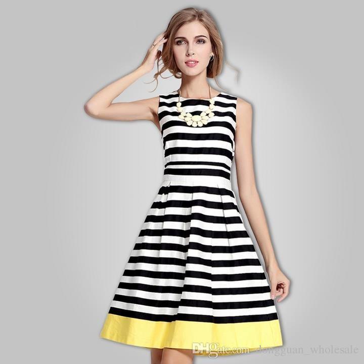 womens summer dresses 2015 2016 summer fashion vest striped dress . wsptpfi
