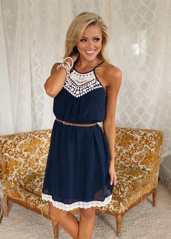 womens summer dresses lovable lady dress navy ijzexqt