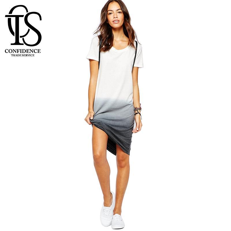 womens summer dresses women summer dress 2016 new fashion white t shirt dress plus size casual cvmehtl