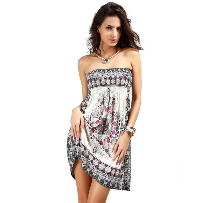 womens sundresses women beach coverup sundress strapless summer dress ubvsokl