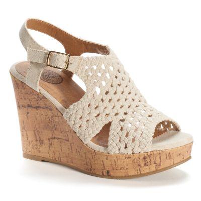 womens wedges so® womenu0027s woven wedge sandals gnkqnor