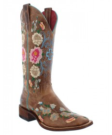 womens western boots macie bean ladies honey bunch embroidered square toe western boot qjsuvcs