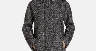 wool coats for women cleo wool cocoon jacket with stand collar wpmatde