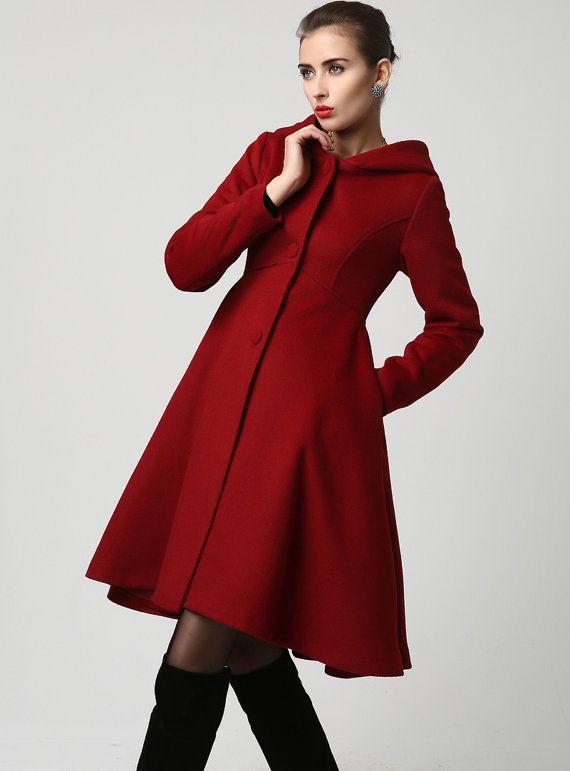 wool coats for women coat,red coat, hooded coat, womens coats, wool coat,long coat,winter coat  woman,winter coat,wool utzpvkr
