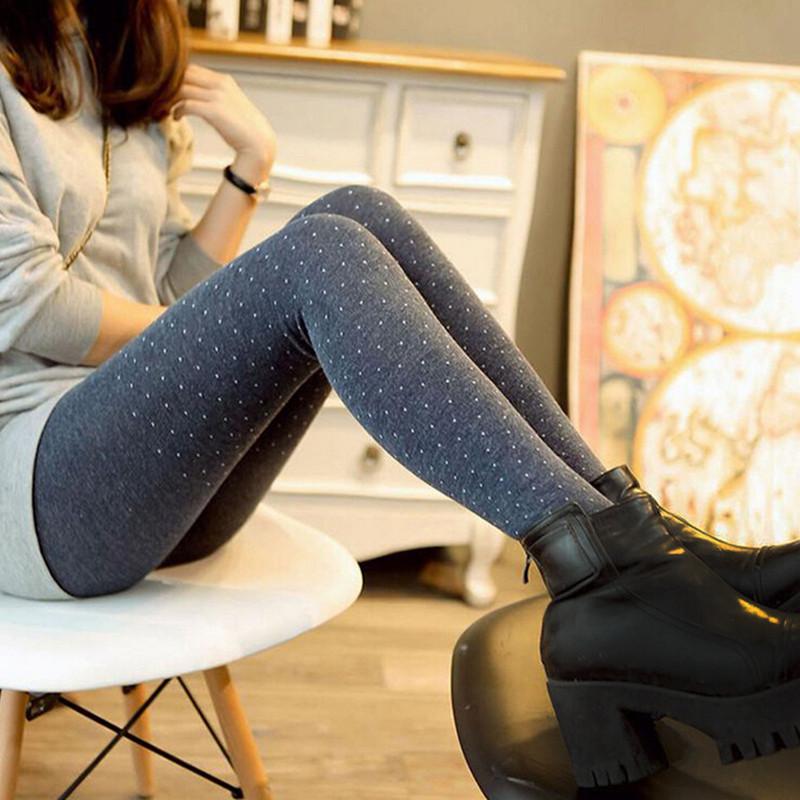 wool leggings 2016 new spring top quality womens leggins sparkling dot design thicker  cotton coikysz