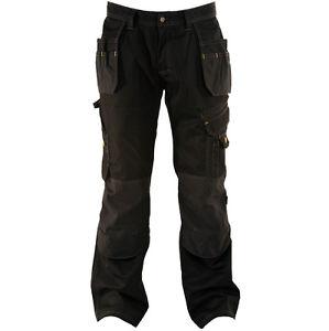 work trousers image is loading dewalt-low-rise-work-trousers-black-dwc17-001- whlniia