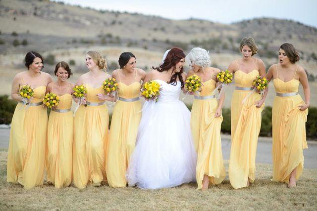 yellow bridesmaid dresses beautiful maxi dresses with gray belts nupiqvi