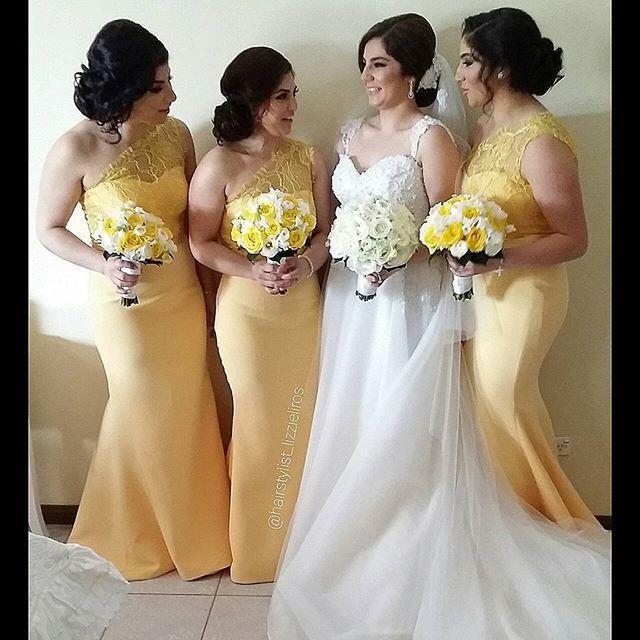 yellow bridesmaid dresses lace mermaid cheap long bridesmaid dresses one shoulder bridesmaid gowns  under 100 cydbndm
