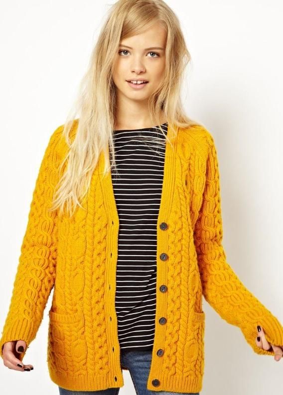 yellow cardigan my all time inspiring cardigan - chunky and bright - wish i could vfcoryt