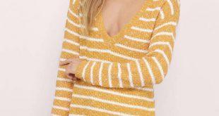 yellow sweater ... always on time yellow u0026 white sweater ... kxuyoqd