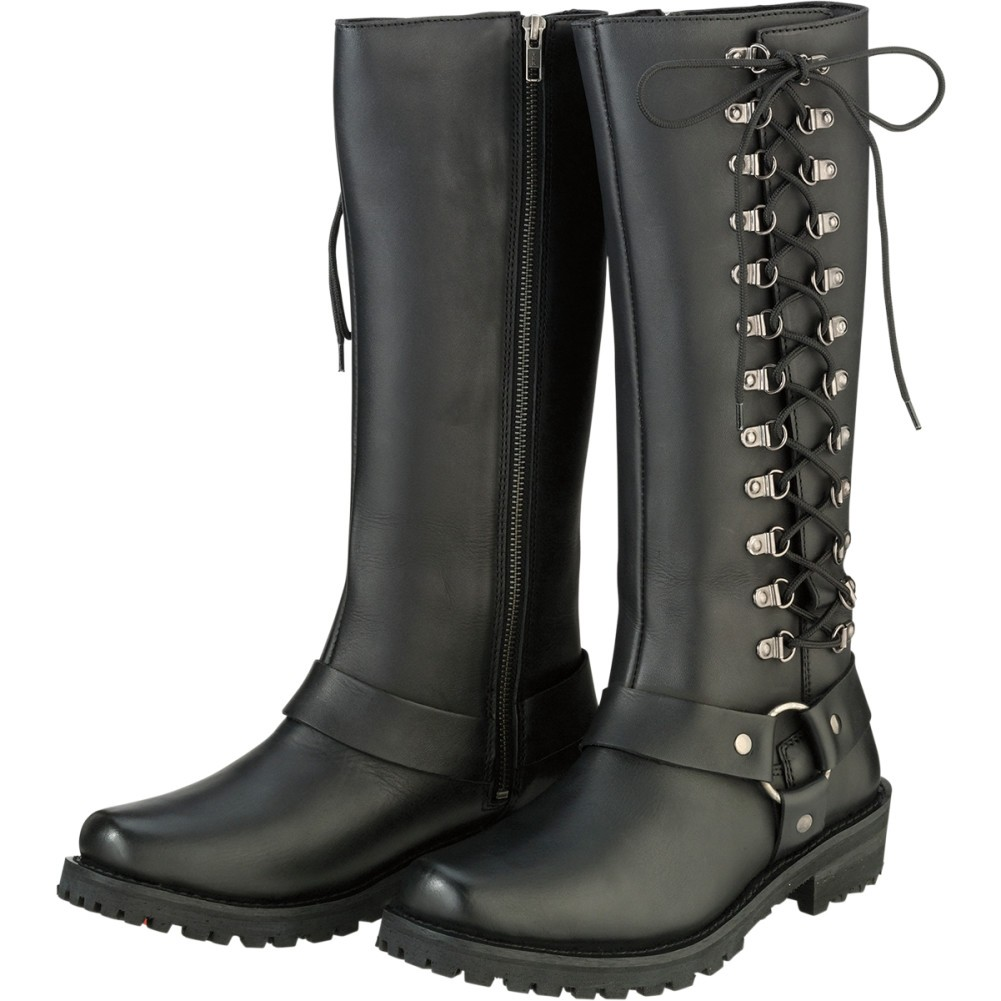 z1r savage leather womens motorcycle boots lmrtiyu