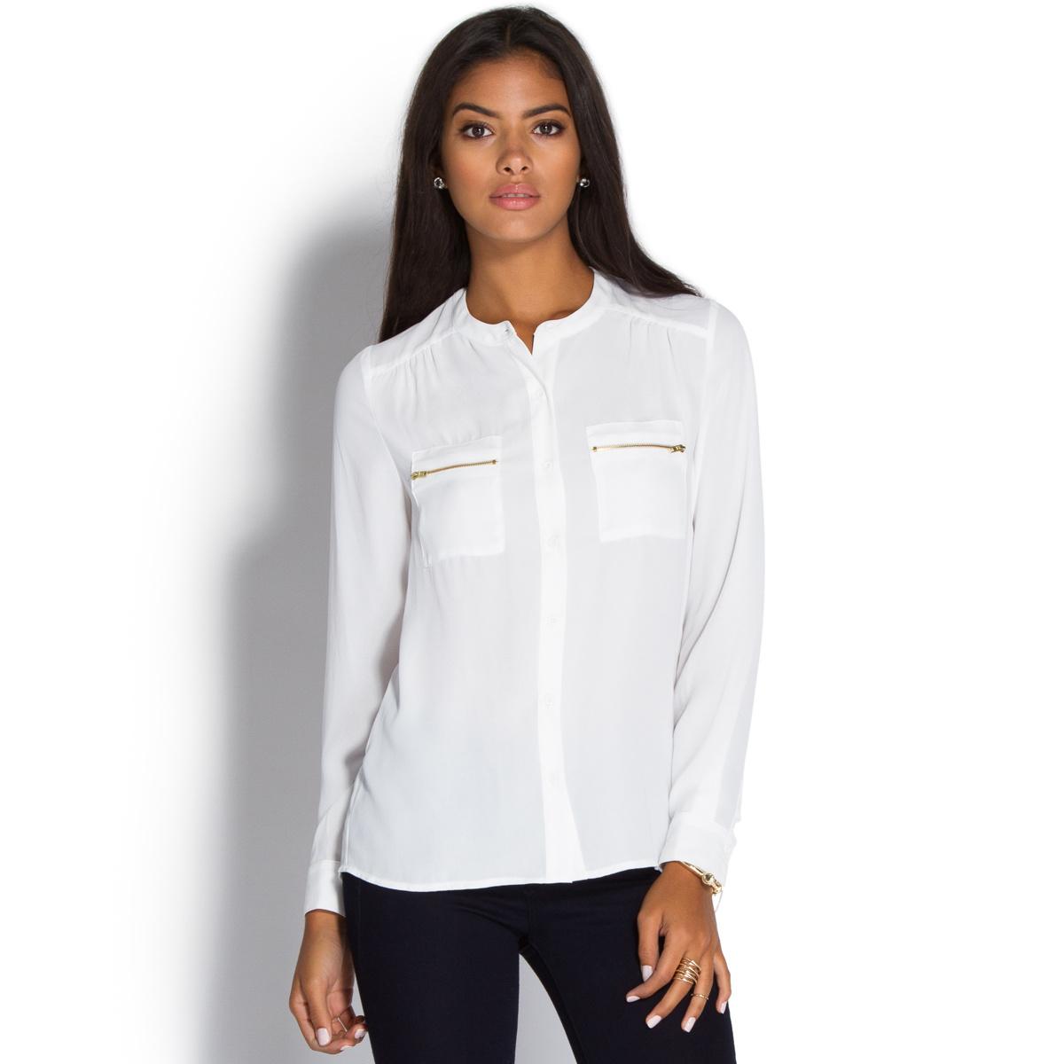 zipper pocket tunic top - shoedazzle zbjtxpq